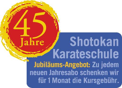 Jubläumslogo 45 Jahre Shotokan
